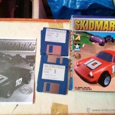 Videojuegos y Consolas: SKIDMARKS - JUEGO COMPLETO COMMODORE AMIGA ORIGINAL EN DISQUETES CON CAJA DE CARTON. Lote 52906715