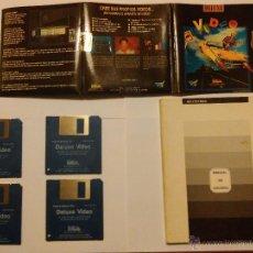 Videojuegos y Consolas: AMIGA - APLICACIÓN DELUXE VIDEO + MANUAL. Lote 54356580