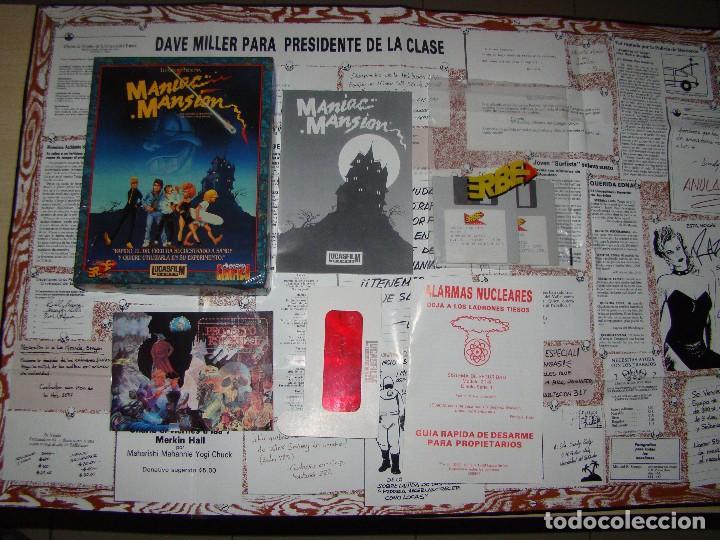 MANIAC MANSIÓN - ERBE - COMPLETO¡¡ (Juguetes - Videojuegos y Consolas - Amiga)