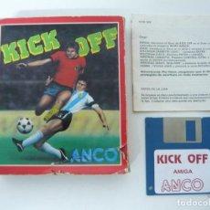 Videojuegos y Consolas: KICK OFF / JUEGO PARA COMMODORE AMIGA / BIG BOX / DISQUETE / DISKETTE. Lote 92697820