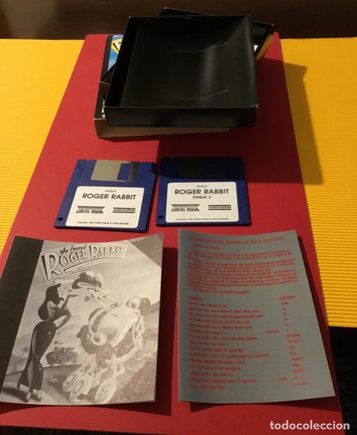 Videojuegos y Consolas: Videojuego Roger rabbit amiga edición coleccionista 1987 - Foto 6 - 117175595
