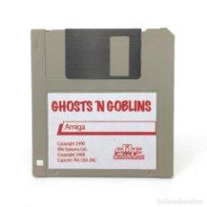 Videojuegos y Consolas: GHOSTS ´N GOBLINS REPRO DISKETTE 3½ COMMODORE AMIGA SPOOF DISK REPRODUCCION CASERA JUEGO NO ORIGINAL. Lote 117389763