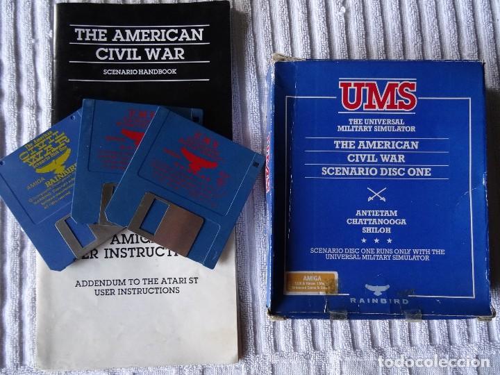 COMMODORE AMIGA - UMS THE AMERICAN CIVIL WAR SCENARIO CAJA GIGANTE ESPAÑOL (Juguetes - Videojuegos y Consolas - Amiga)