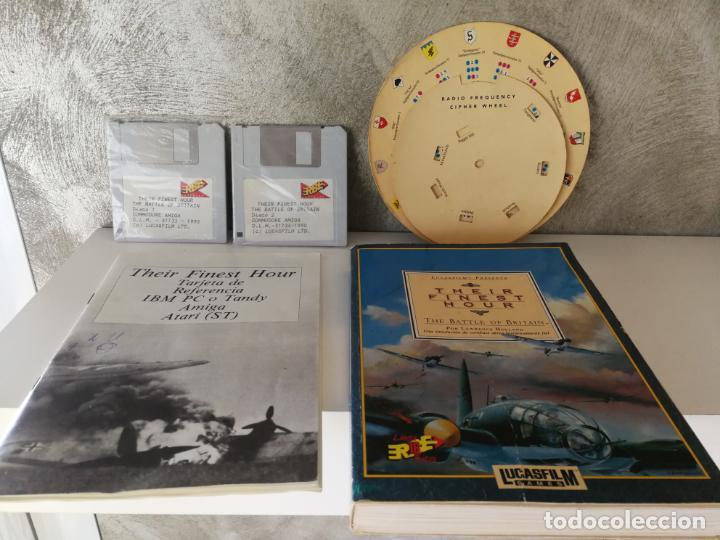 Videojuegos y Consolas: THEIR FINEST HOUR COMMODORE AMIGA ERBE - Foto 3 - 130598510