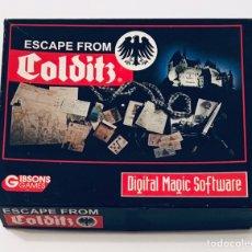 Videojuegos y Consolas: ESCAPE FROM COLDITZ [DIGITAL MAGIC SOFT] 1990 [SYSTEM 4 DE ESPAÑA] [COMMODORE AMIGA]. Lote 135946627