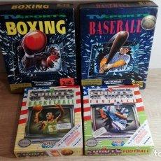 Videojuegos y Consolas: PACK 4 TV SPORTS FOOTBALL-BASKETBALL-BASEBALL-BOXEO-COMMODORE AMIGA DISKETTE,S 3,5-AÑOS 1988-1992.. Lote 146593182