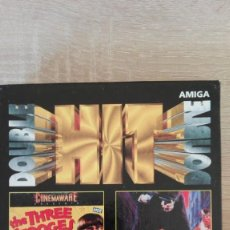 Videojuegos y Consolas: DOUBLE HIT-COMMODORE AMIGA-CAJA BOX-THE THREE STOOGES-THE KING OF CHICAGO-AÑO 1987 NUEVO A ESTRENAR. Lote 153420506