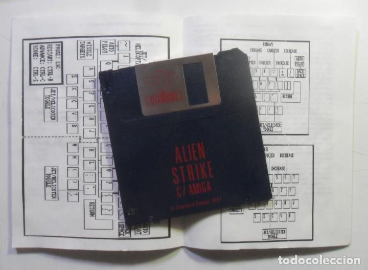 Videojuegos y Consolas: ALIEN STRIKE - AMIGA - DISQUETE 3 1/2 - DIAMOND GAMES 1987 - Foto 2 - 167977808