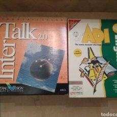 Videojuegos y Consolas: PACK JUEGOS AMIGA CAJA GRANDE TALK 2.0 Y ADI ENGLISH. Lote 176191897