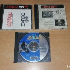 Videojuegos y Consolas: 5 JUEGOS AMIGA CD 32 ZOOL DANGEROUS STRETTS WING COMMANDER DIGGERS OSCAR. Lote 180841588