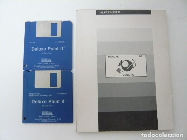 DELUXE PAINT 2 Y MANUAL ESPAÑOL / COMMODORE AMIGA / RETRO VINTAGE / DISCO - DISKETTE - DISQUETE (Juguetes - Videojuegos y Consolas - Amiga)