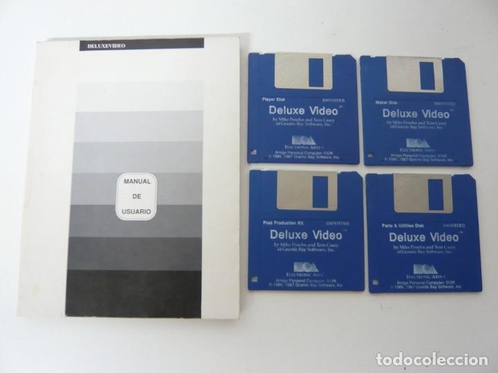 DELUXE VIDEO Y MANUAL ESPAÑOL / COMMODORE AMIGA / RETRO VINTAGE / DISCO - DISKETTE - DISQUETE (Juguetes - Videojuegos y Consolas - Amiga)