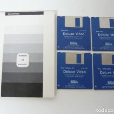 Videojuegos y Consolas: DELUXE VIDEO Y MANUAL ESPAÑOL / COMMODORE AMIGA / RETRO VINTAGE / DISCO - DISKETTE - DISQUETE. Lote 197467522