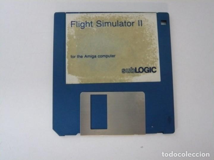 FLIGHT SIMULATOR 2 / COMMODORE AMIGA / RETRO VINTAGE / DISCO - DISKETTE - DISQUETE (Juguetes - Videojuegos y Consolas - Amiga)