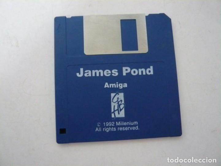JAMES POND / COMMODORE AMIGA / RETRO VINTAGE / DISCO - DISKETTE - DISQUETE (Juguetes - Videojuegos y Consolas - Amiga)