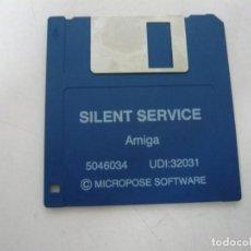 Videojuegos y Consolas: SILENT SERVICE / COMMODORE AMIGA / RETRO VINTAGE / DISCO - DISKETTE - DISQUETE. Lote 197468383