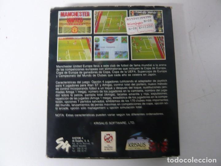 Videojuegos y Consolas: Manchester United EU / Caja cartón / Commodore Amiga / Retro Vintage / disco - diskette - disquete - Foto 2 - 197469177