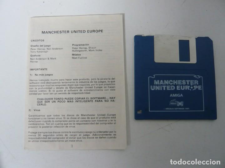 Videojuegos y Consolas: Manchester United EU / Caja cartón / Commodore Amiga / Retro Vintage / disco - diskette - disquete - Foto 4 - 197469177