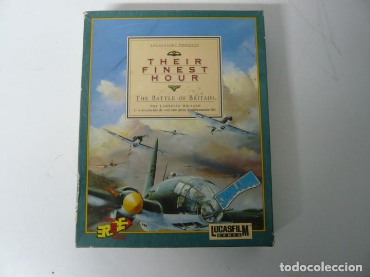 THEIR FINEST HOUR / CAJA CARTÓN / COMMODORE AMIGA / RETRO VINTAGE / DISCO - DISKETTE - DISQUETE (Juguetes - Videojuegos y Consolas - Amiga)