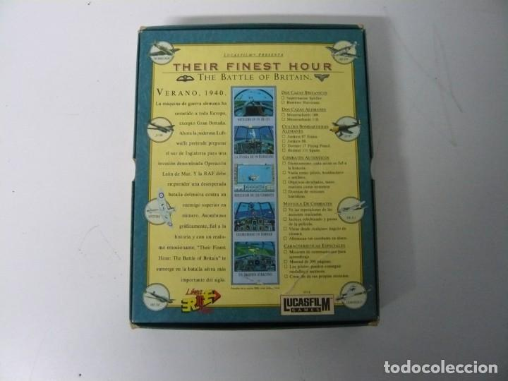Videojuegos y Consolas: Their Finest Hour / Caja cartón / Commodore Amiga / Retro Vintage / disco - diskette - disquete - Foto 2 - 197469230