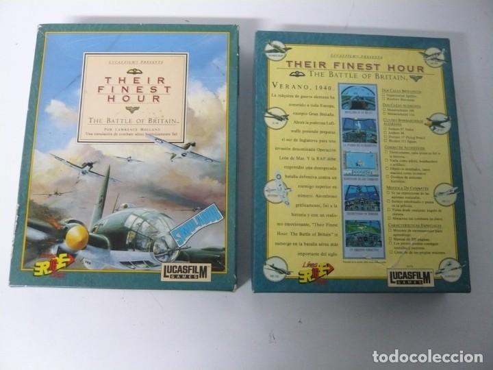 Videojuegos y Consolas: Their Finest Hour / Caja cartón / Commodore Amiga / Retro Vintage / disco - diskette - disquete - Foto 3 - 197469230