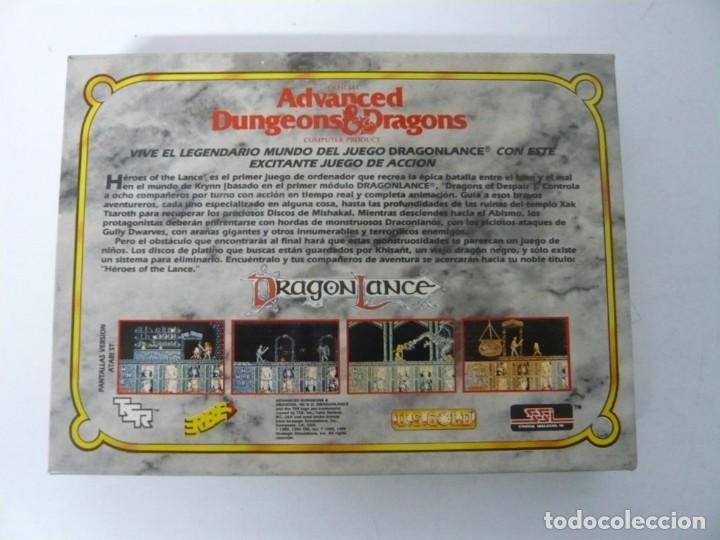 Videojuegos y Consolas: Heroes of the Lance / Caja cartón / Commodore Amiga / Retro Vintage / disco - diskette - disquete - Foto 2 - 197469557