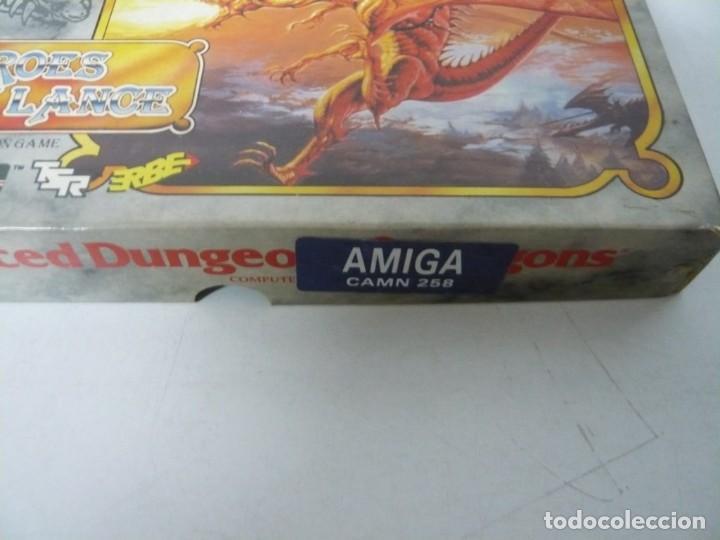 Videojuegos y Consolas: Heroes of the Lance / Caja cartón / Commodore Amiga / Retro Vintage / disco - diskette - disquete - Foto 4 - 197469557