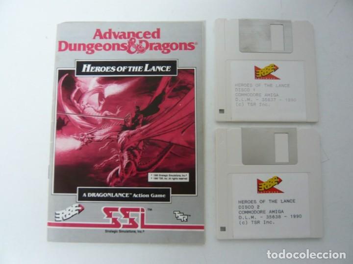 Videojuegos y Consolas: Heroes of the Lance / Caja cartón / Commodore Amiga / Retro Vintage / disco - diskette - disquete - Foto 5 - 197469557