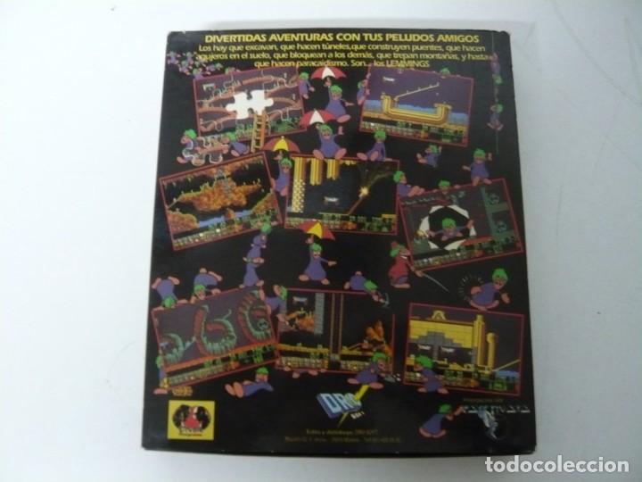 Videojuegos y Consolas: Lemmings / Caja cartón / Commodore Amiga / Retro Vintage / disco - diskette - disquete - Foto 2 - 197469602