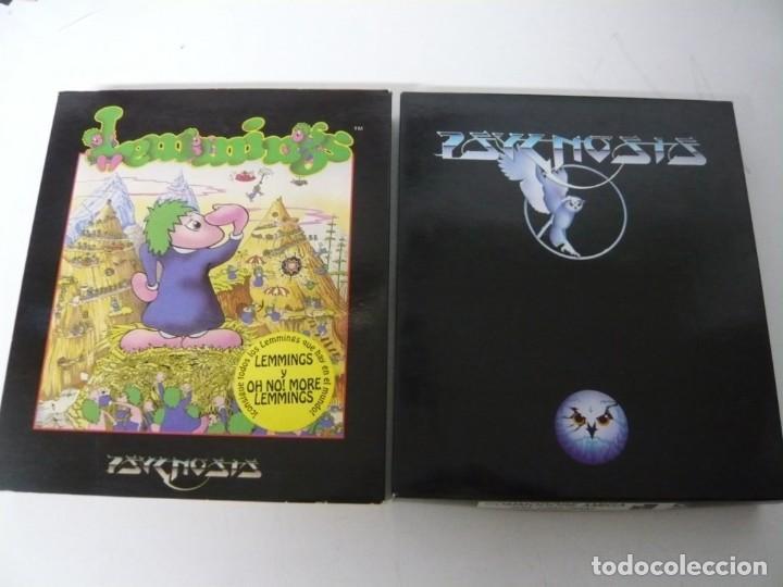 Videojuegos y Consolas: Lemmings / Caja cartón / Commodore Amiga / Retro Vintage / disco - diskette - disquete - Foto 3 - 197469602