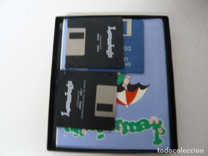 Videojuegos y Consolas: Lemmings / Caja cartón / Commodore Amiga / Retro Vintage / disco - diskette - disquete - Foto 4 - 197469602