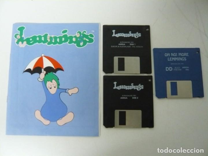 Videojuegos y Consolas: Lemmings / Caja cartón / Commodore Amiga / Retro Vintage / disco - diskette - disquete - Foto 5 - 197469602