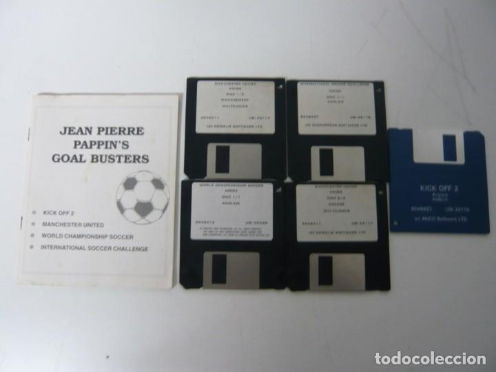 Videojuegos y Consolas: Jean-Pierre Papin PACK / Caja cartón / Commodore Amiga / Retro Vintage / disco - diskette - disquete - Foto 4 - 197469911