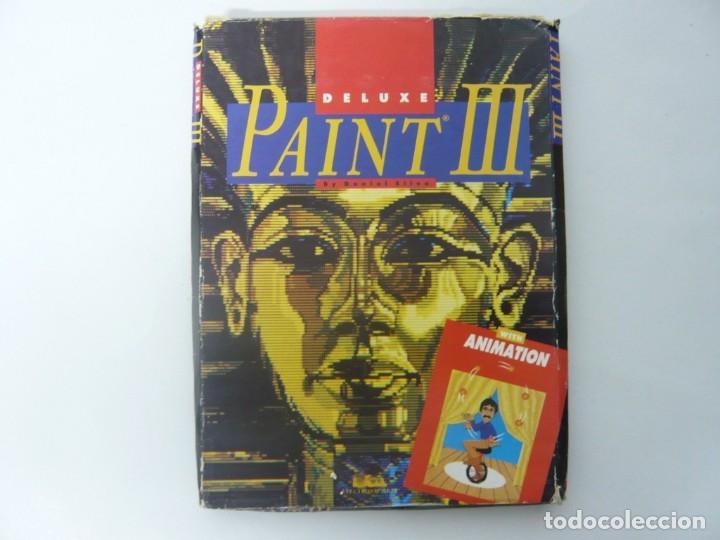 DELUXE PAINT 3 / CAJA CARTÓN / COMMODORE AMIGA / RETRO VINTAGE / DISCO - DISKETTE - DISQUETE (Juguetes - Videojuegos y Consolas - Amiga)