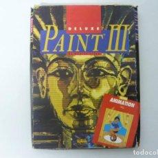 Videojuegos y Consolas: DELUXE PAINT 3 / CAJA CARTÓN / COMMODORE AMIGA / RETRO VINTAGE / DISCO - DISKETTE - DISQUETE. Lote 197469993