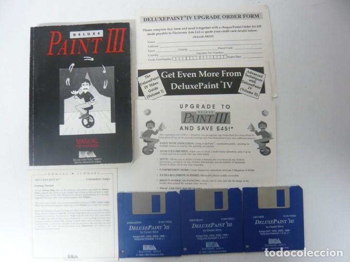 Videojuegos y Consolas: Deluxe Paint 3 / Caja cartón / Commodore Amiga / Retro Vintage / disco - diskette - disquete - Foto 3 - 197469993