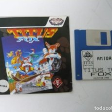 Videojogos e Consolas: TITUS THE FOX / CAJA CARTÓN / COMMODORE AMIGA / RETRO VINTAGE / DISCO - DISKETTE - DISQUETE. Lote 197470061