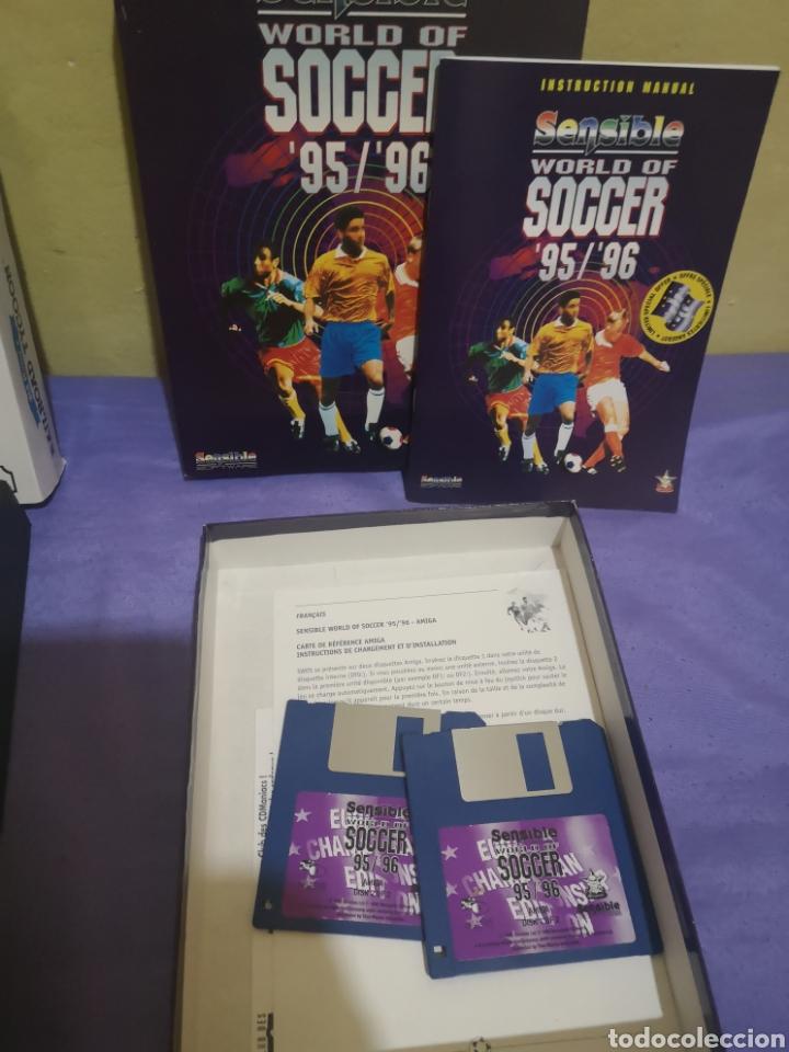 Videojuegos y Consolas: Lote pack 2 juegos Amiga Railroad Tycoon - Sensible Soccer - caja cartón - diskette - Foto 3 - 215342635