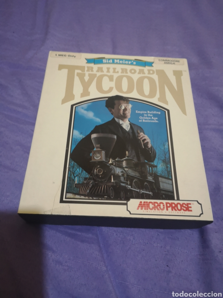 Videojuegos y Consolas: Lote pack 2 juegos Amiga Railroad Tycoon - Sensible Soccer - caja cartón - diskette - Foto 6 - 215342635