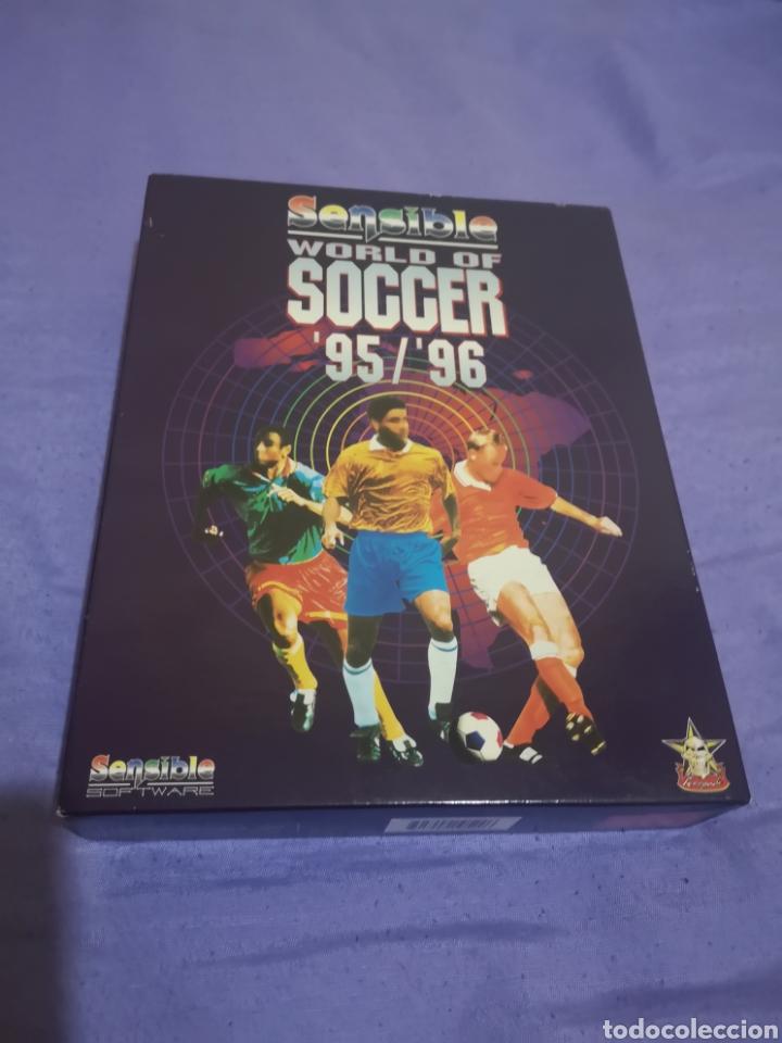 Videojuegos y Consolas: Lote pack 2 juegos Amiga Railroad Tycoon - Sensible Soccer - caja cartón - diskette - Foto 8 - 215342635