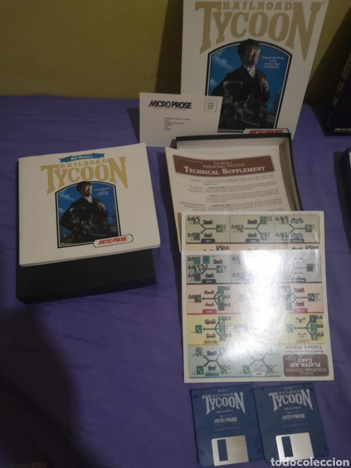 Videojuegos y Consolas: Lote pack 2 juegos Amiga Railroad Tycoon - Sensible Soccer - caja cartón - diskette - Foto 10 - 215342635