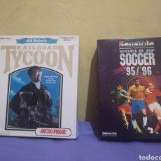 Videojuegos y Consolas: LOTE PACK 2 JUEGOS AMIGA RAILROAD TYCOON - SENSIBLE SOCCER - CAJA CARTÓN - DISKETTE. Lote 215342635