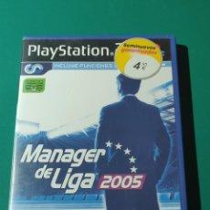 Videojuegos y Consolas: JUEGO PS2- MANAGER DE LIGA 2005(COMPLETO). Lote 219380500