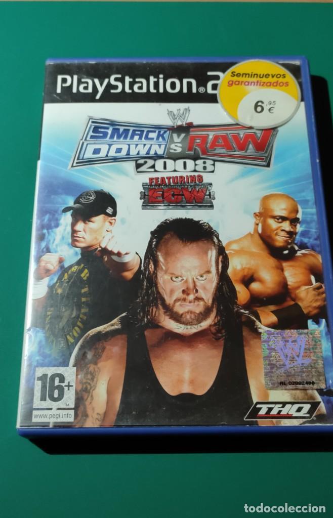 JUEGO PS2- SMACKDDOWN VS RAW,2008(COMPLETO) (Juguetes - Videojuegos y Consolas - Amiga)