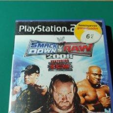 Videojuegos y Consolas: JUEGO PS2- SMACKDDOWN VS RAW,2008(COMPLETO). Lote 219383717
