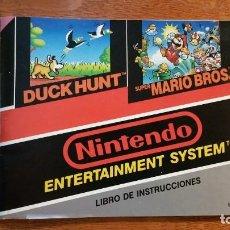 Videojuegos y Consolas: FOLLETO JUEGO SUPER MARIO BROS 1 & DUCK HUND. Lote 220104466