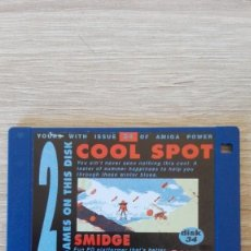 """Videojuegos y Consolas: COOL SPOT-SMIDGE-DISKETTE 3,5""""-COMMODORE AMIGA-DEMO-AMIGA POWER ISSUE 34-AÑOS 90.. Lote 225736400"""