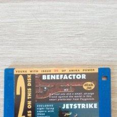 """Videojuegos y Consolas: BENEFACTOR-JETSTRIKE-DISKETTE 3,5""""-COMMODORE AMIGA-DEMO-AMIGA POWER ISSUE 36-AÑOS 90.. Lote 225738685"""