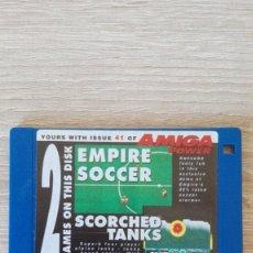 """Videojuegos y Consolas: EMPIRE SOCCER-SCORCHED TANKS-DISKETTE 3,5""""-COMMODORE AMIGA-DEMO-AMIGA POWER ISSUE 41-AÑOS 90.. Lote 225746141"""