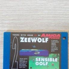 """Videojuegos y Consolas: ZEEWOLF-SENSIBLE GOLF-DISKETTE 3,5""""-COMMODORE AMIGA-DEMO-AMIGA POWER ISSUE 44-AÑOS 90.. Lote 225748690"""
